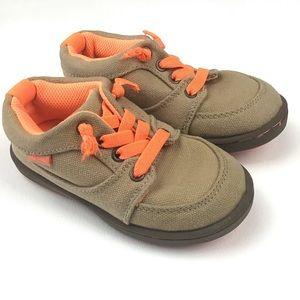 OSHKOSH B'gosh Boy Size 9 Tan Orange Sneaker Shoes